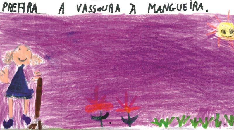desenho infantil sobre campanha da água