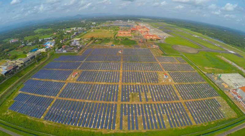 planta solar aeroporto de Cochin na Índia