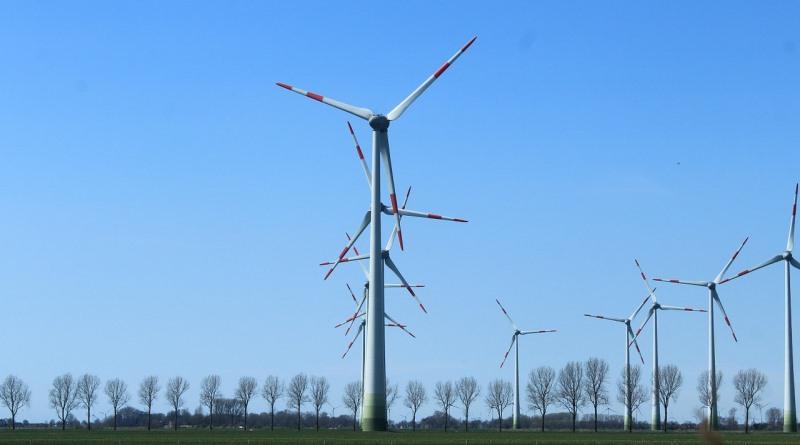 turbinas eólicas gerando energia renovável