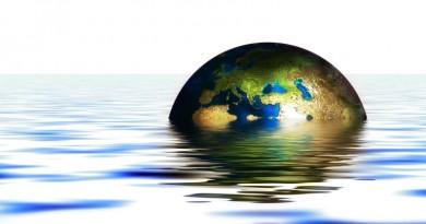 imagem globo submerso refletindo preocupação de cientistas com resultados da COP21
