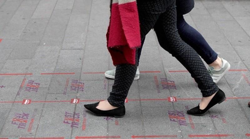 faixa exclusiva de pedestres