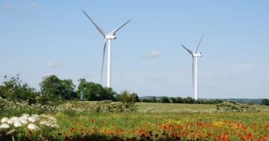 Turbinas eólicas no Uruguai, que investiu fortemente em energias renováveis
