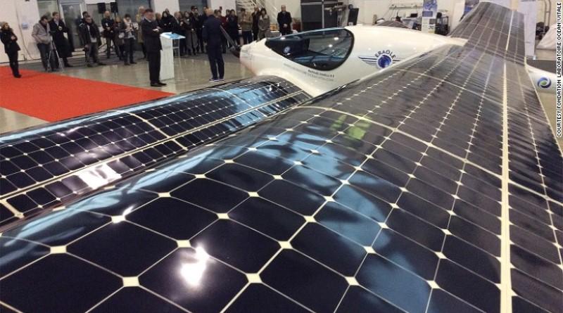 avião francês movido a biocombustível e energia solar