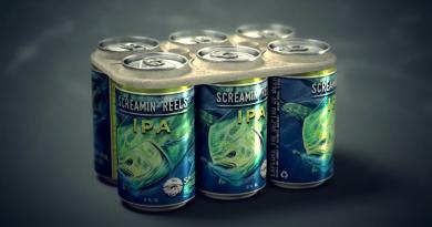 embalagem de cerveja biodegradável e comestível