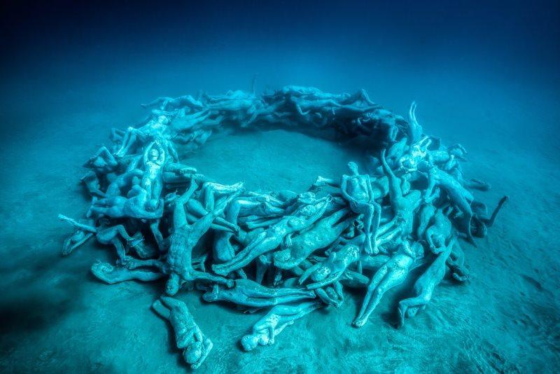 Museo Atlantico com esculturas nos oceanos
