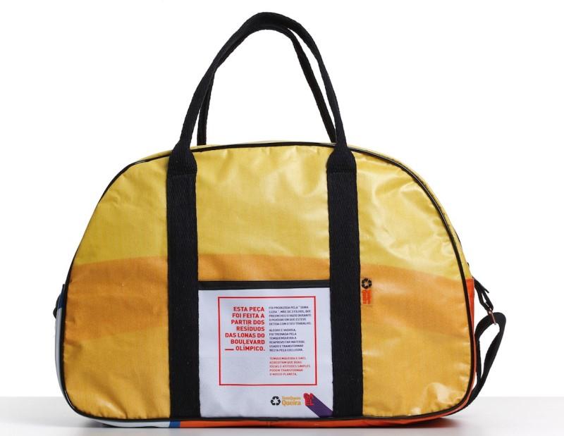 4e97f75ef50 Projeto de inclusão social transforma lonas usadas nas Olimpíadas em bolsas  cheias de estilo