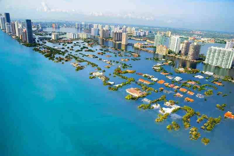 Aumento da temperatura global de 3OC deixará embaixo d'água cidades do mundo todo, inclusive, brasileiras