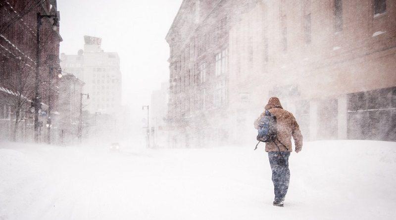 frio extremo no Canadá