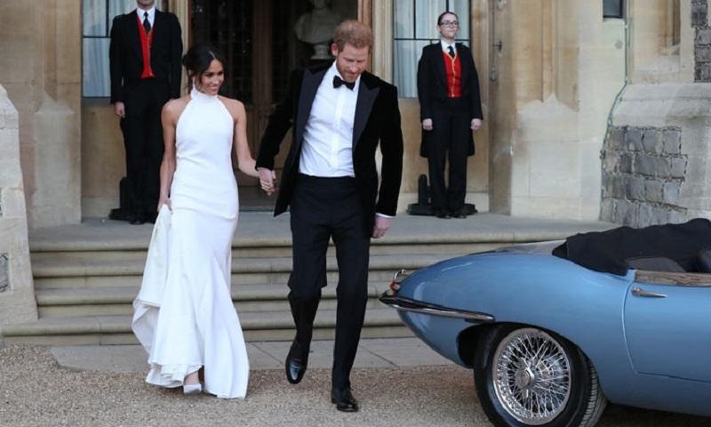 Meghan e Harry dirigem carro elétrico ao final do casamento que celebrou a diversidade e o feminismo