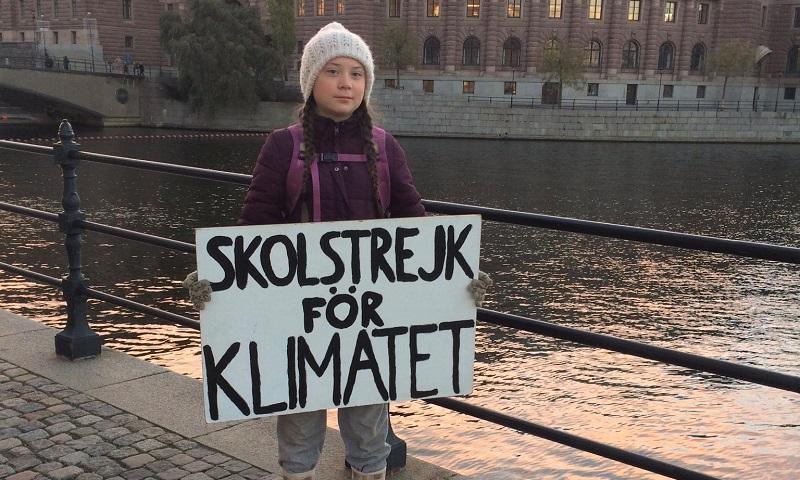 Greta Thunberg é uma ativista pelo combate às mudanças climáticas