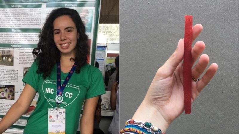 Estudante que criou canudo biodegradável e comestível com inhame é convidada a representar Brasil em feira internacional de Ciências