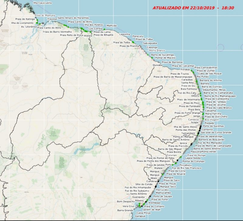 Sobe para 233 o número de localidades atingidas pelo óleo: Lençóis Maranhenses está entre elas