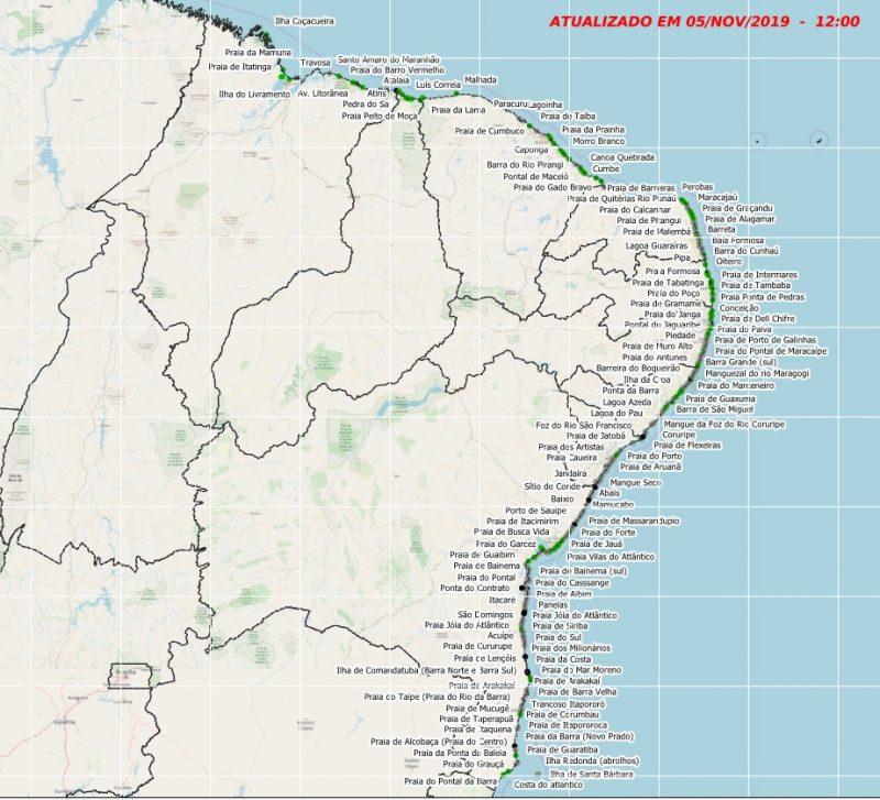 Manchas de óleo voltam a aparecer em Canoa Quebrada, no Ceará: já são mais de 350 praias atingidas em todo Nordeste