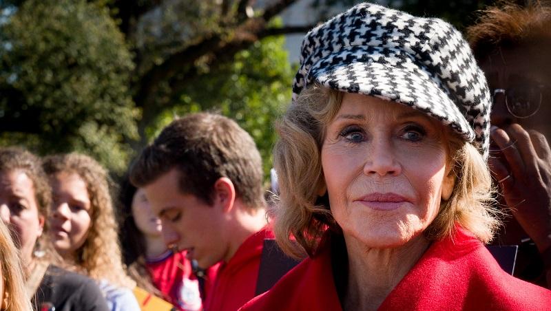 """""""Somos a última geração que pode fazer a diferença entre a vida e a morte do planeta"""", diz Jane Fonda"""