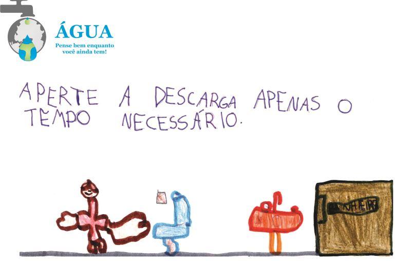 desenho infantil da campanha pelo uso consciente da água