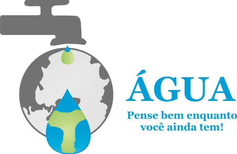 cartaz da campanha pelo uso da água