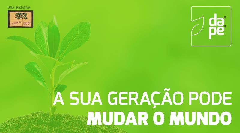 cartaz campanha dá pé pelo reflorestamento da mata atlântica
