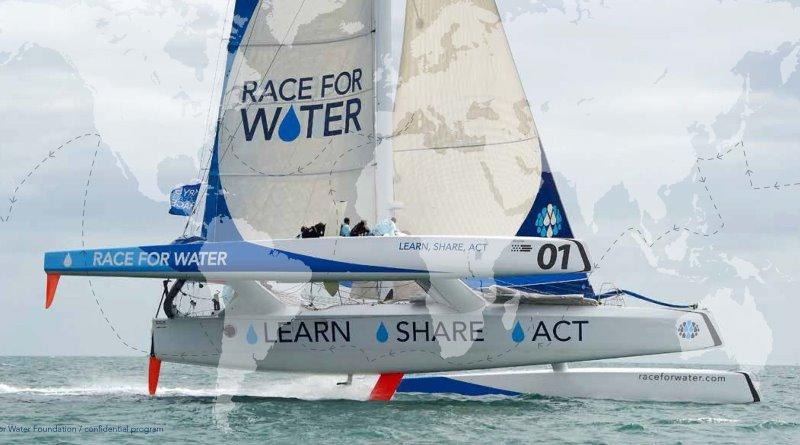 trimarã da expedição Race for Water