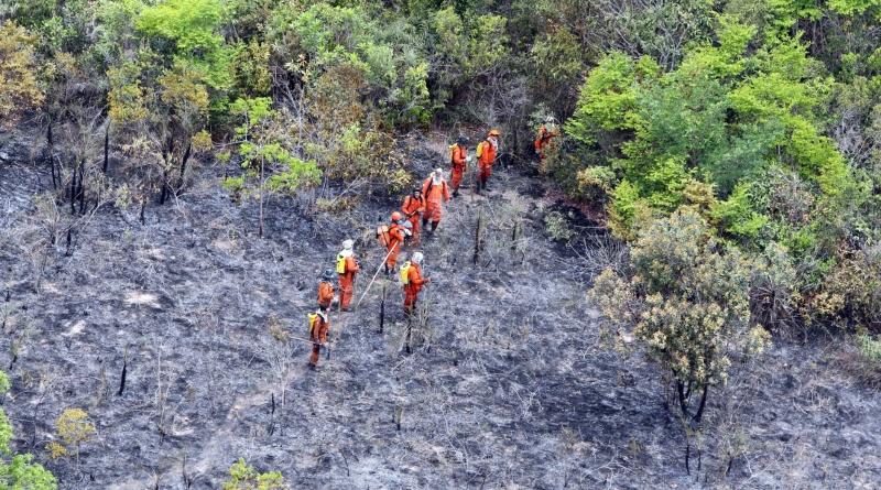 incêndio na chapada diamantina, um dos extremos climáticos do final de 2015