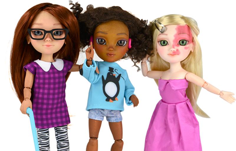 bonecas Makies na campanha de Natal da #ToyLikeMe