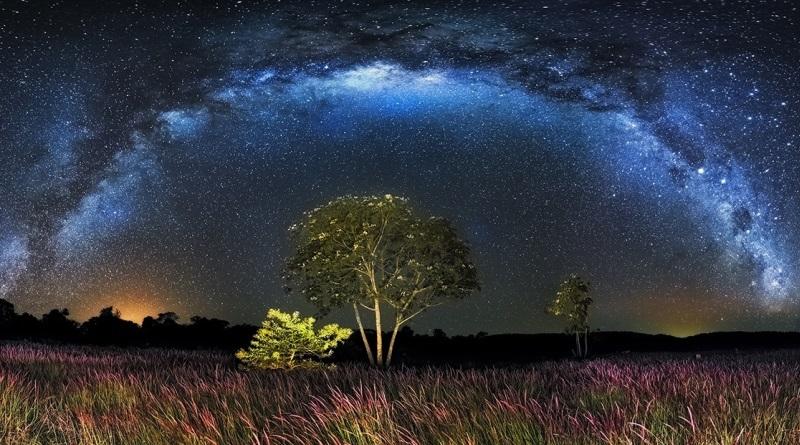 fotografia de paisagem noturna no Brasil