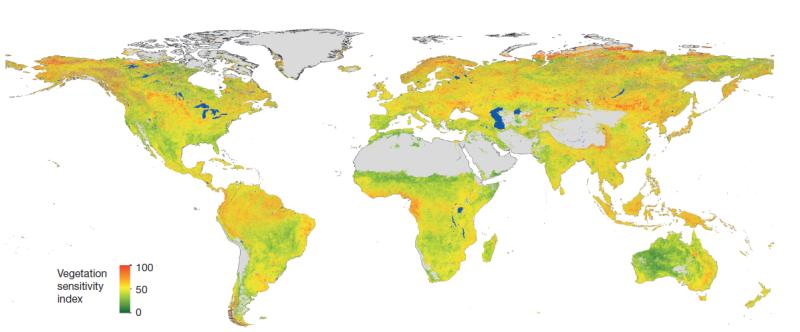 Mapa dos biomas ameaçados no mundo