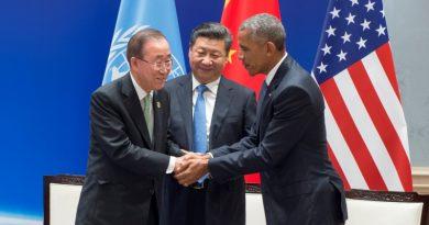 china e USA assinam acordo de paris