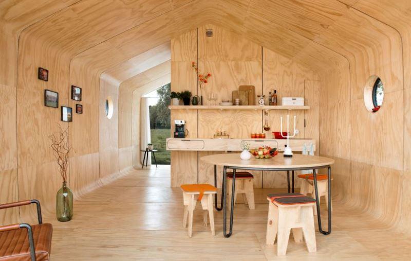 Casa sustentável feita de papelão dura até 100 anos
