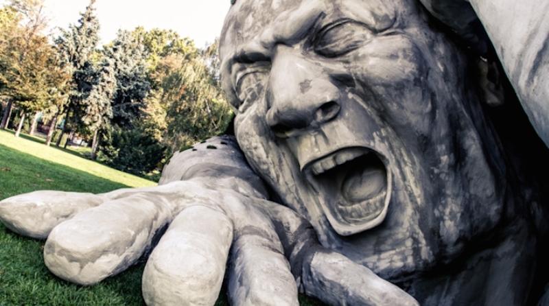 escultura gigante de isopor