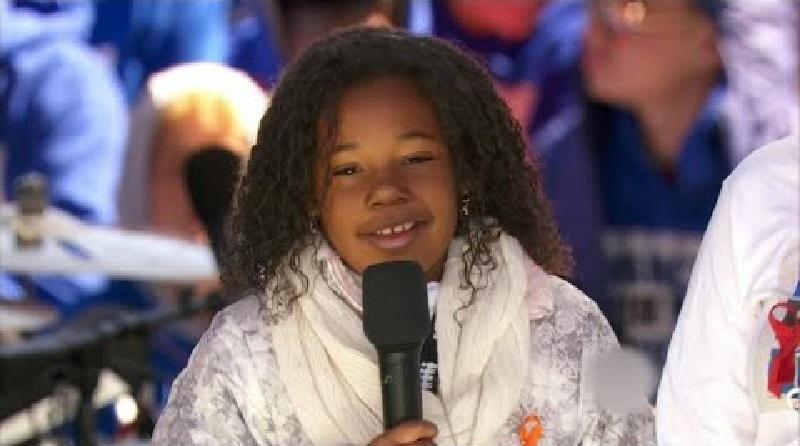 """""""Eu sonho com um mundo sem armas"""", diz neta de Martin Luther King, na Marcha por Nossas Vidas"""