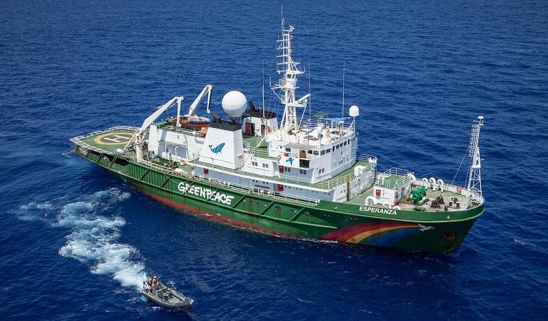 Navio Esperanza do Greenpeace atraca em Belém para visitação pública