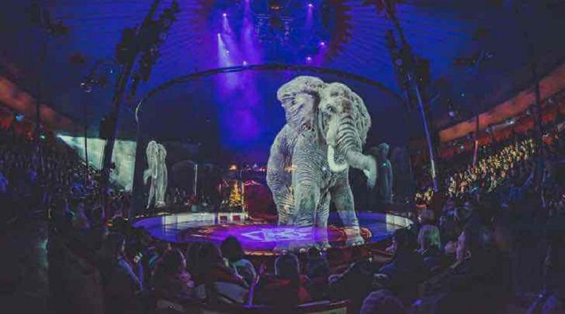 Circo alemão faz espetáculo fascinante ao substituir animais reais por holografias
