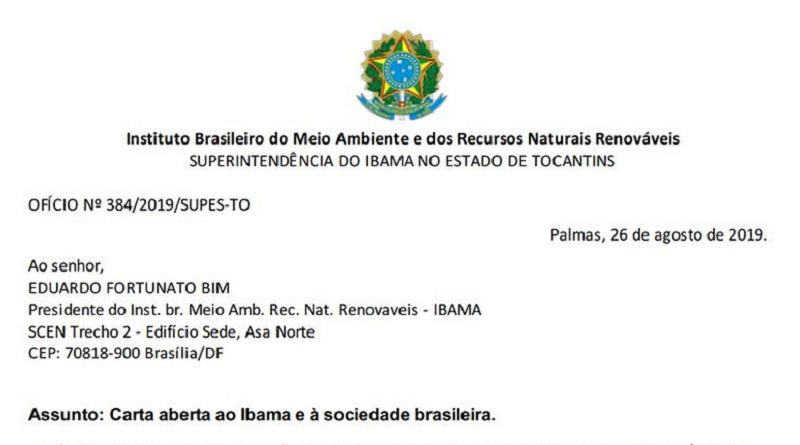 """Funcionários do Ibama divulgam carta manifesto em que alertam sobre o """"colapso da gestão ambiental"""""""