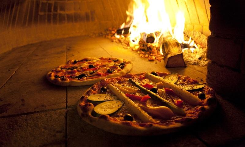 Pizza, luz e calor