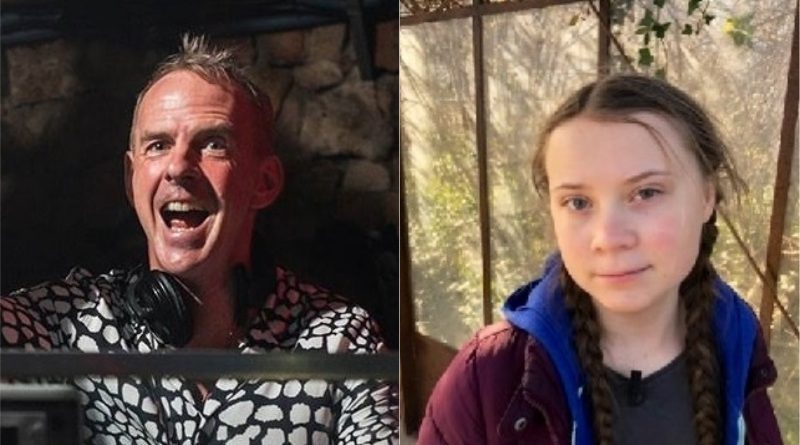 "Fatboy Slim usa discurso de Greta Thunberg na ONU em nova versão do hit ""Right here, right now"""