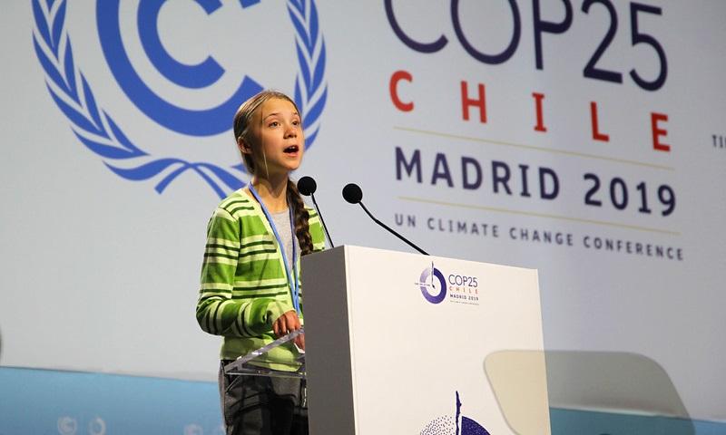 """""""Há esperança. Mas ela não vem dos governos. Vem das pessoas"""", diz Greta Thunberg, na COP25, em Madrid"""