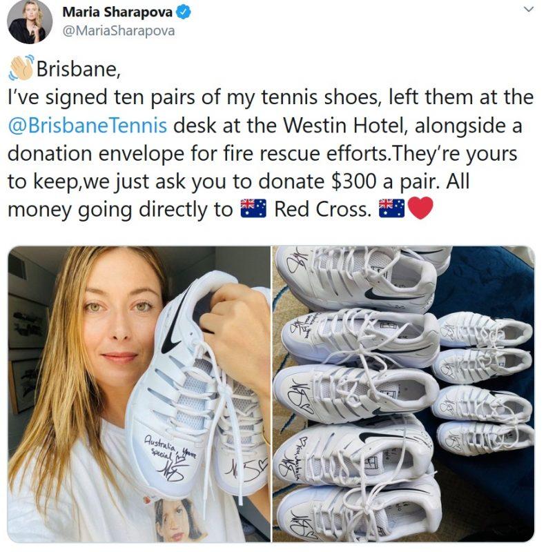 Melhores tenistas do mundo farão jogo beneficente pela Austrália