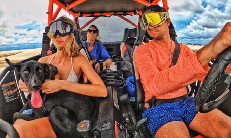 Piloto Nelson Piquet Jr. é flagrado cometendo diversas infrações no Parque Nacional de Lençóis Maranhenses