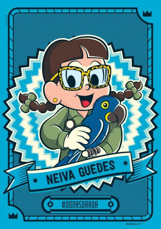 Bióloga Neiva Guedes, a guardiã das araras-azuis, ganha homenagem da Turma da Mônica
