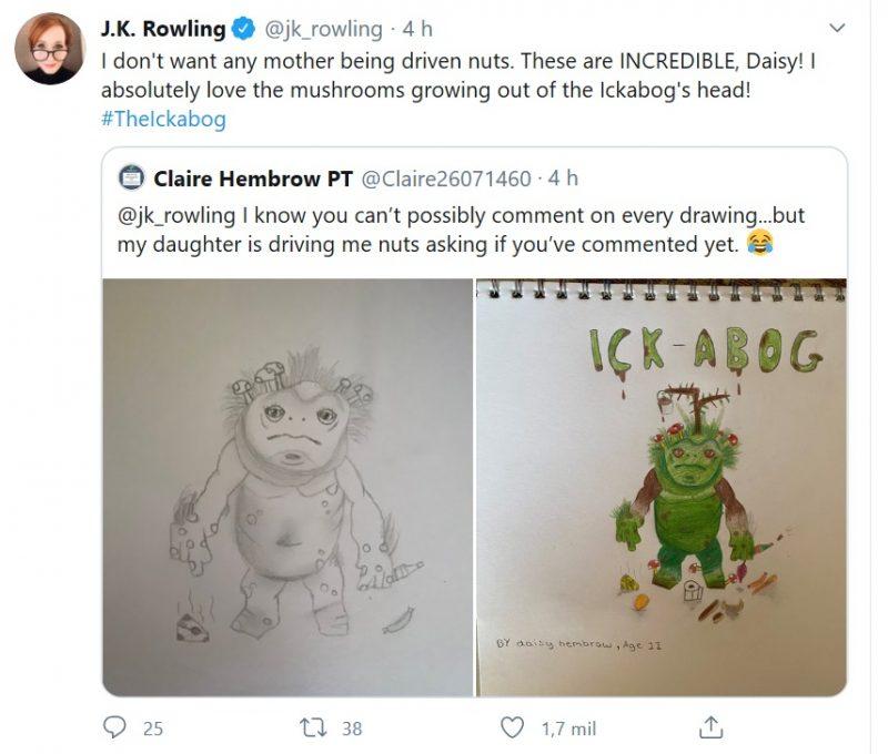 J.K. Rowling, autora de Harry Potter, lança livro gratuito online e convida crianças do mundo inteiro a ilustrá-lo