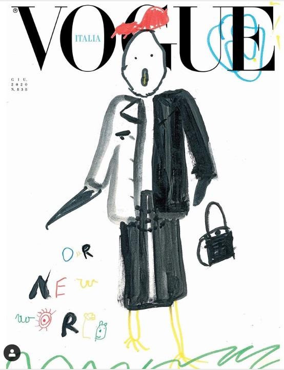 A visão das crianças de um  novo mundo, pós-pandemia, são a capa da nova edição da Vogue Itália
