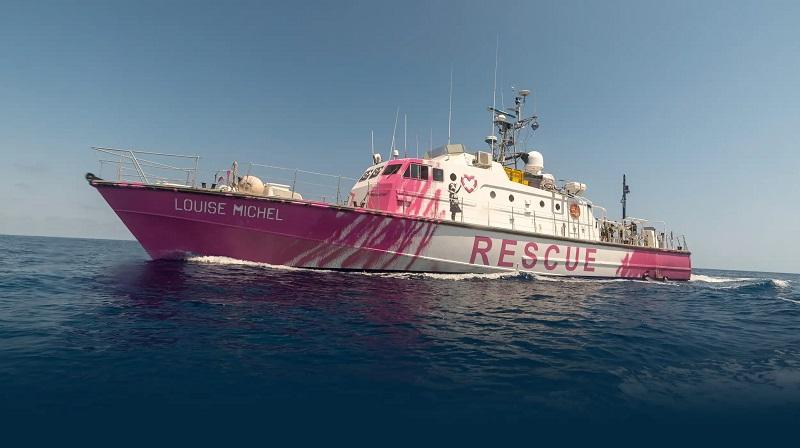 Banksy compra barco para resgatar refugiados no Mar Mediterrâneo