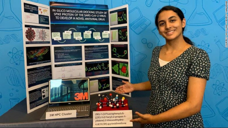 """Jovem de 14 anos ganha prêmio de """"Joven Cientista do Ano"""" ao descobrir processo que pode resultar em um medicamento contra a COVID-19"""