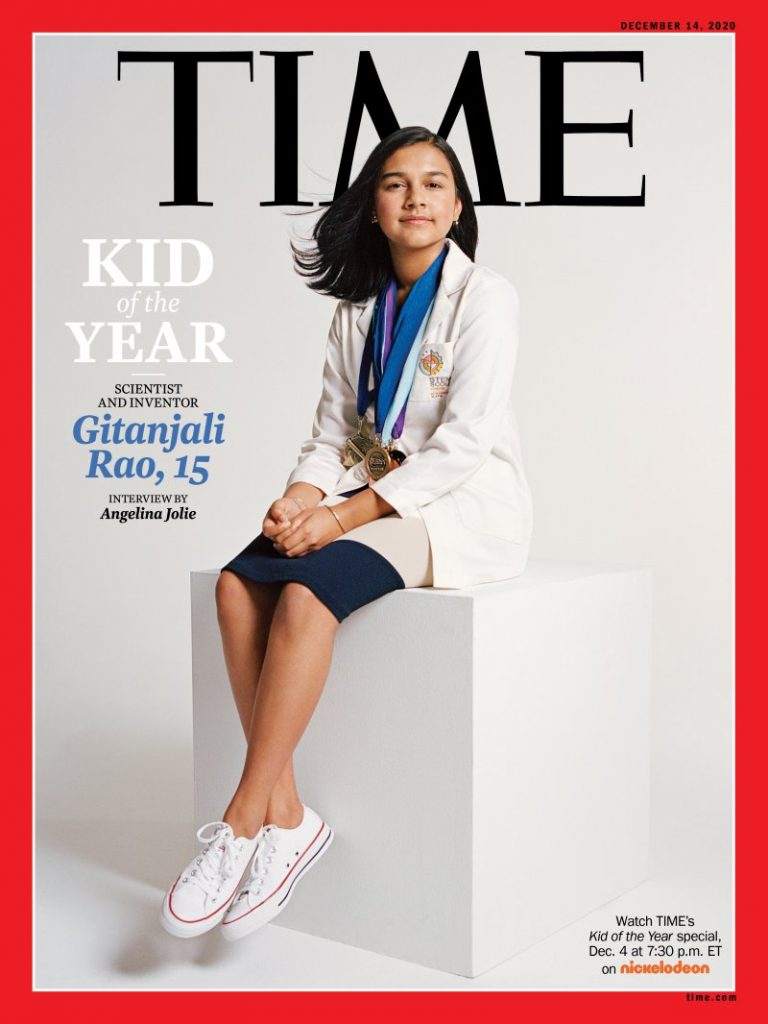 """Apaixonada por ecologia e meio ambiente, jovem cientista de 15 anos é escolhida """"Kid of the Year"""" pela revista Time"""
