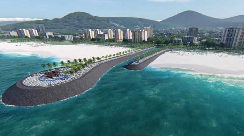 Obra na praia de Matinhos, no litoral do Paraná, recebe críticas de especialistas, preocupados com impacto ambiental