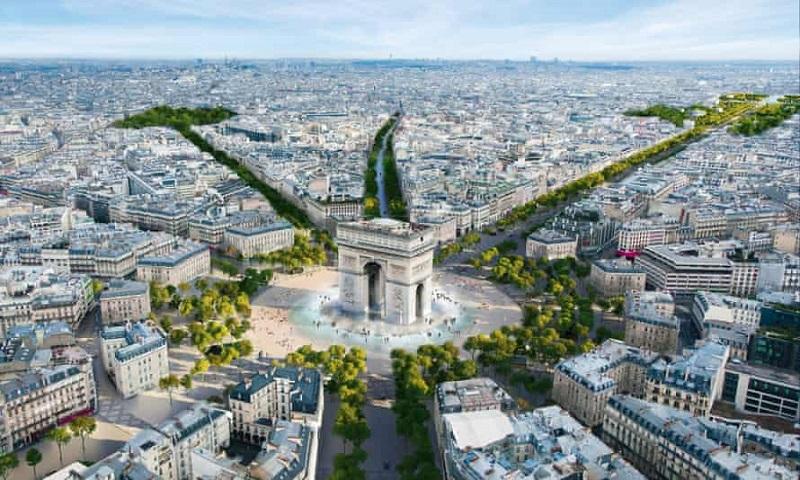 Avenida mais famosa de Paris vai ficar mais verde, com mais árvores e espaço para pedestres, e menos carros