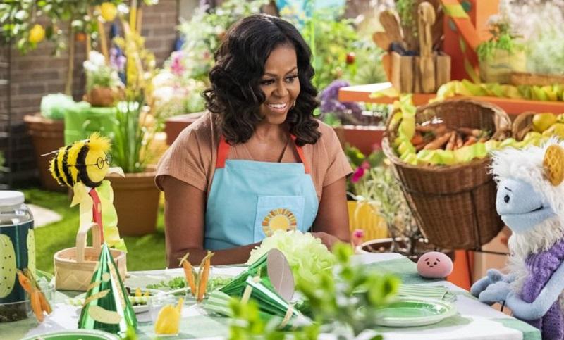 Michelle Obama lança na Netflix programa infantil sobre culinária saudável e feita em casa