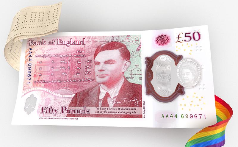 Nova nota de £50 homenageia matemático, que quebrou código alemão na Segunda Guerra, e foi perseguido por ser gay