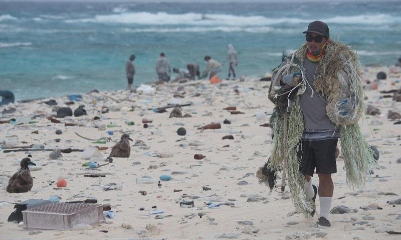Quase 50 toneladas de resíduos plásticos e redes de pescas são recolhidas na maior área de proteção marinha do planeta