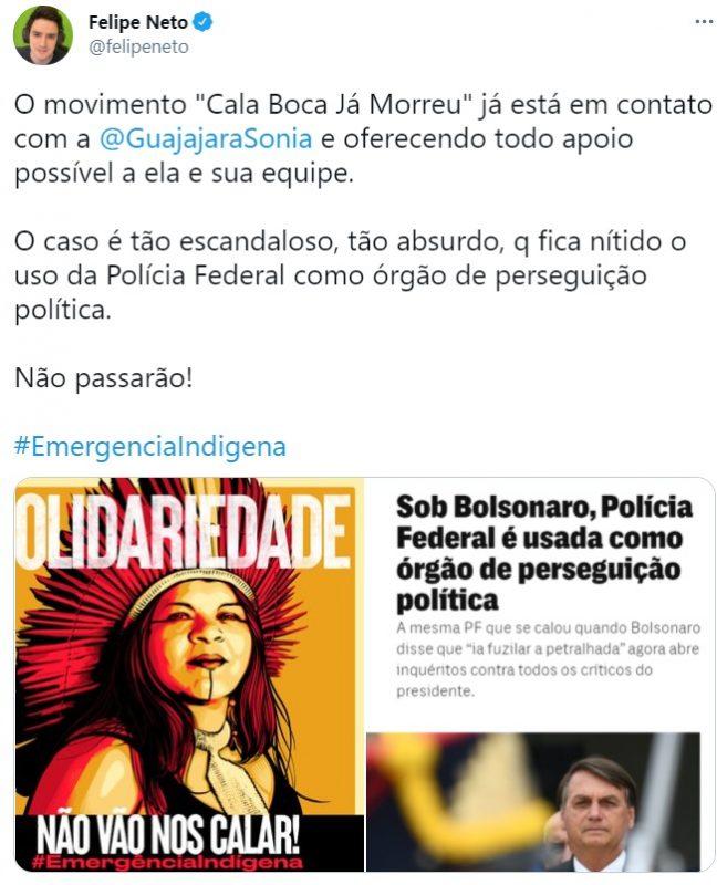 A pedido da Funai, Polícia Federal intima Sonia Guajajara para depor em inquérito sobre difamação do governo na websérie 'Maracá'